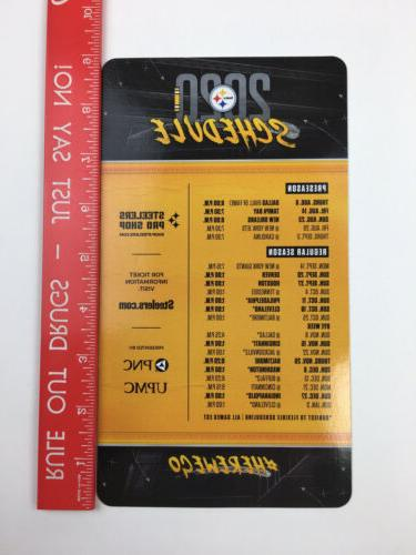 OFFICIAL 2020 Pittsburgh Schedule Magnet, Magnetic