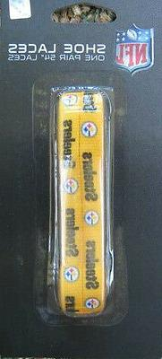 pittsburgh steelers 54 gold shoelaces with black