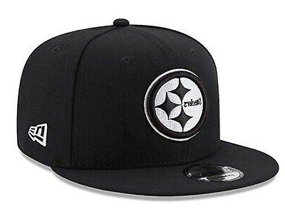 pittsburgh steelers 9fifty black white logo adjustable