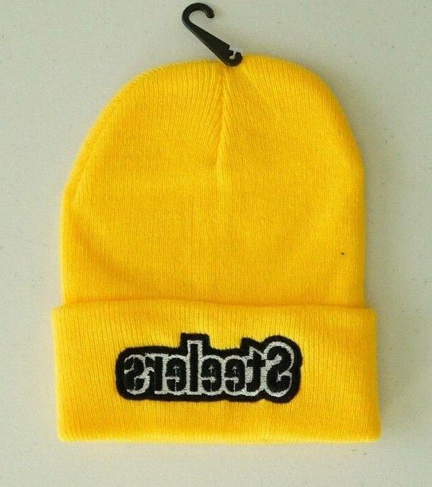 pittsburgh steelers beanies with embroidered logo unisex