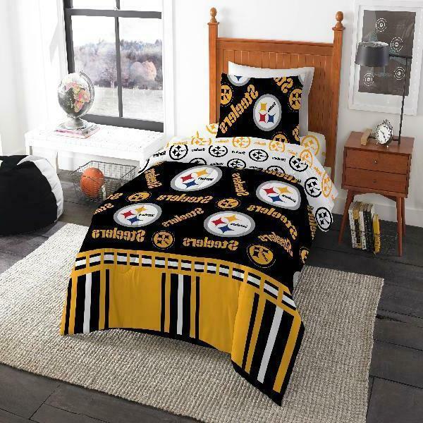 pittsburgh steelers bed in bag bedding set