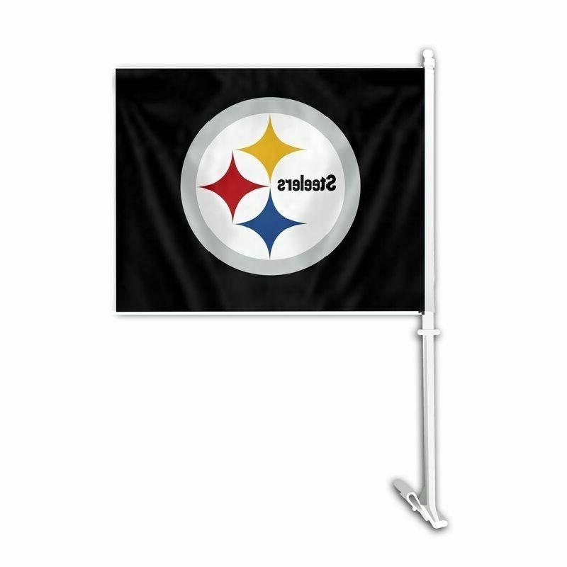 pittsburgh steelers car auto flag banner