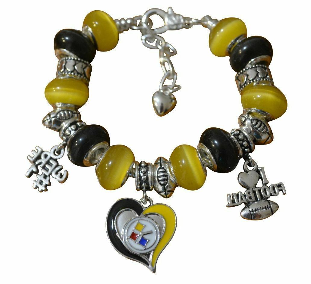 pittsburgh steelers charm bracelet steelers bracelet