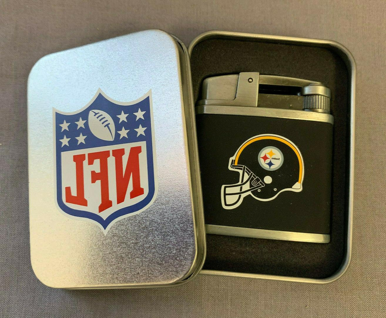 pittsburgh steelers classic logo refillable torch lighter