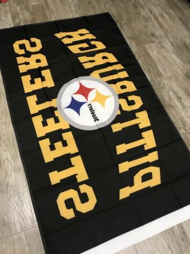PITTSBURGH STEELERS TEAM LOGO BANNER: SHIP From