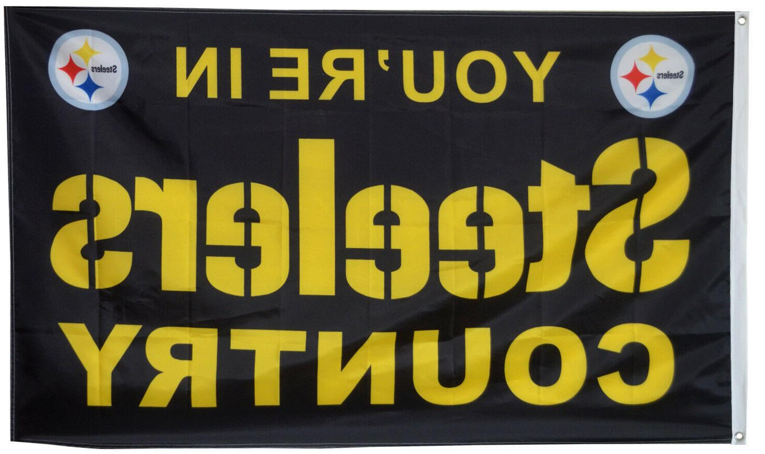 pittsburgh steelers flag steelers country nfl banner
