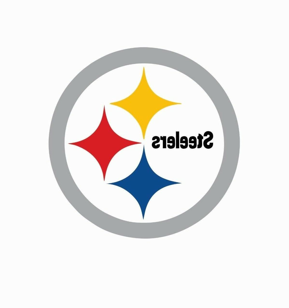 pittsburgh steelers football color silver sports decal
