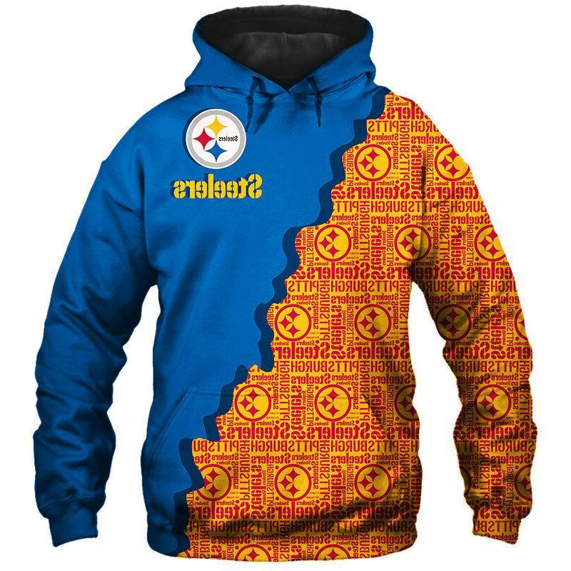 Pittsburgh Steelers Hoodie Sweatshirt Hooded Sport Jacket Fans Souvenir