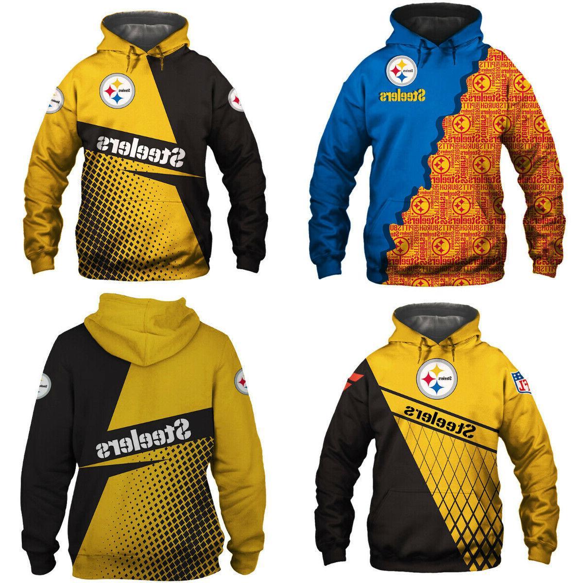 pittsburgh steelers hoodie sweatshirt hooded sport casual
