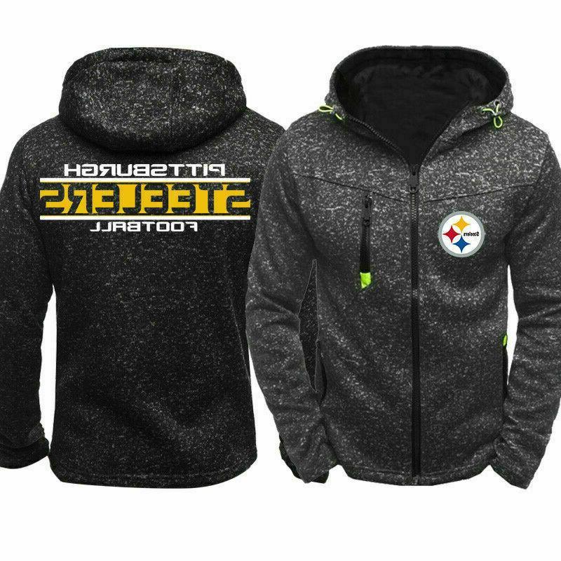 pittsburgh steelers hoodie warm jacket sporty sweatshirt
