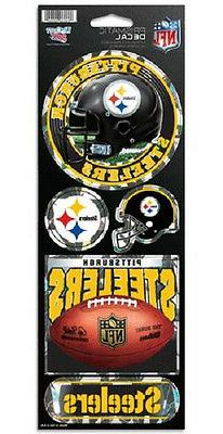 Pittsburgh Steelers Large 5 Pack Prismatic Stickers - NFL Ca