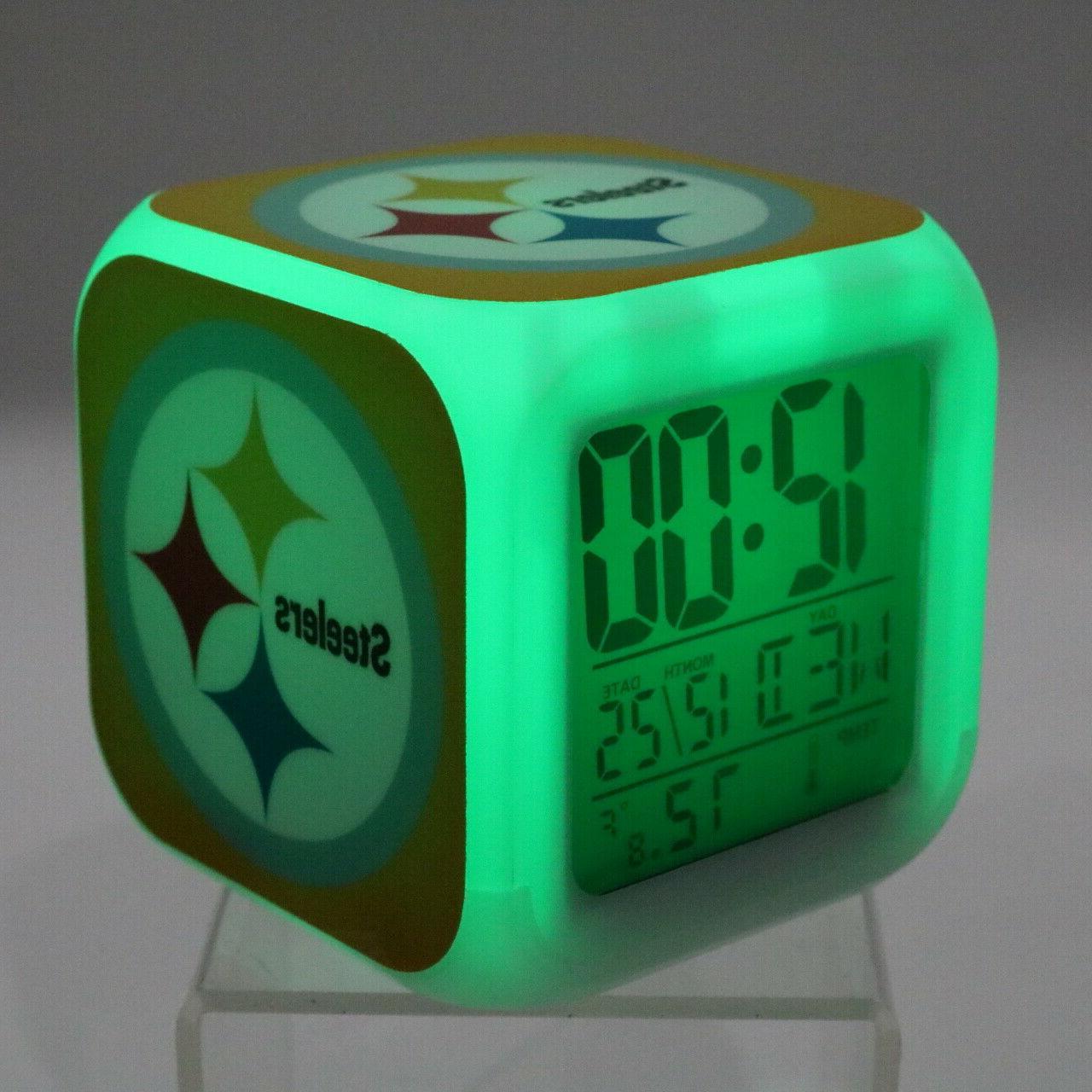 Pittsburgh LED Alarm Clock Decor Gift