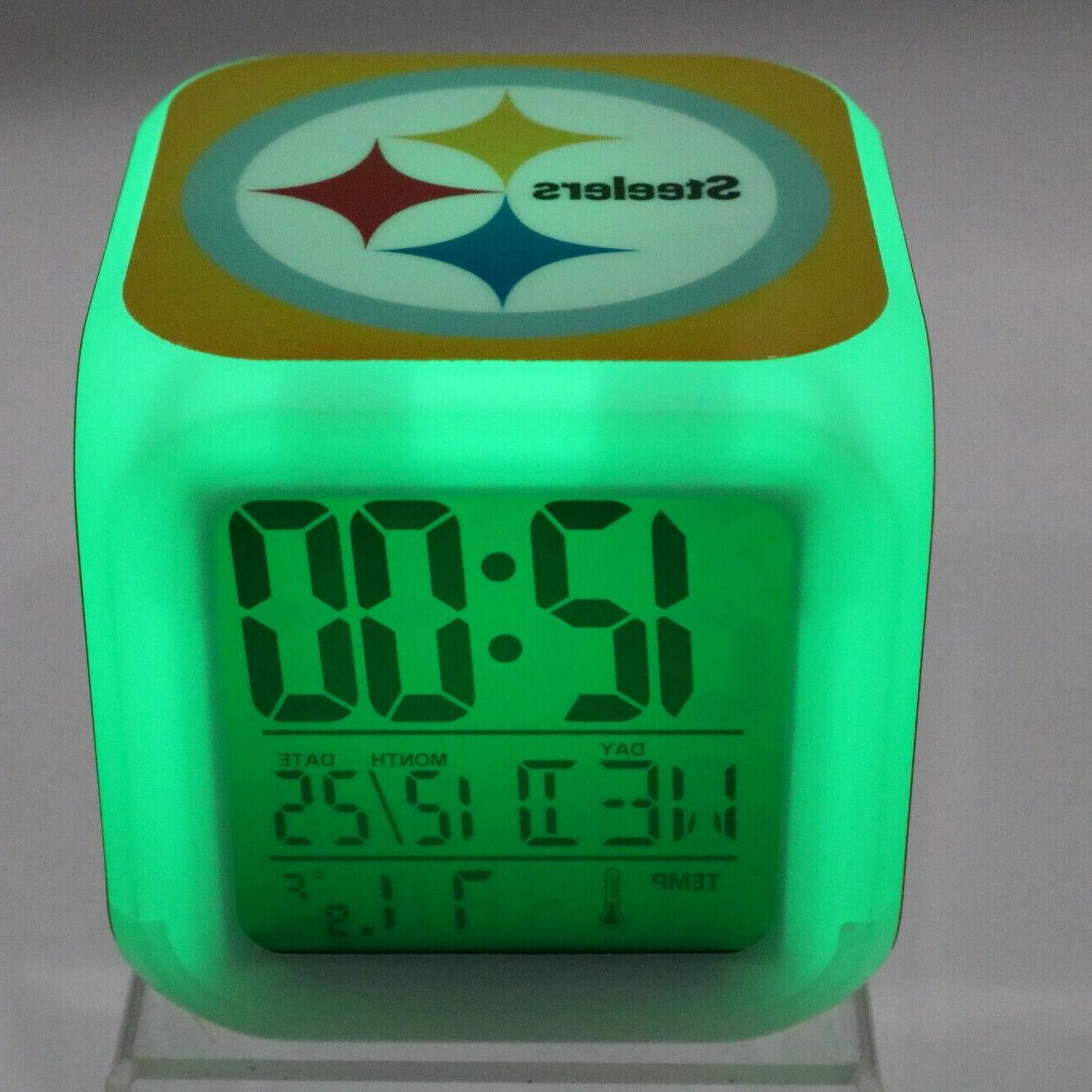 pittsburgh steelers led digital alarm clock watch