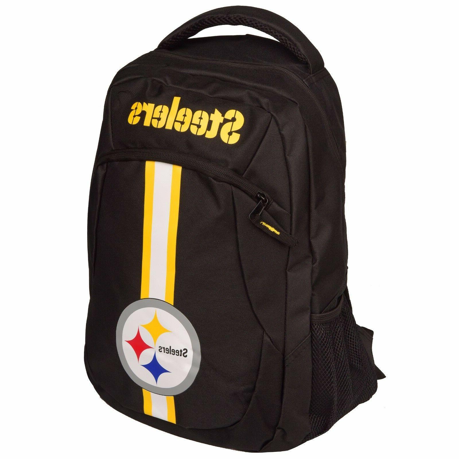 pittsburgh steelers logo action backpack school bag