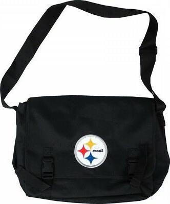 pittsburgh steelers nfl black laptop shoulder bag