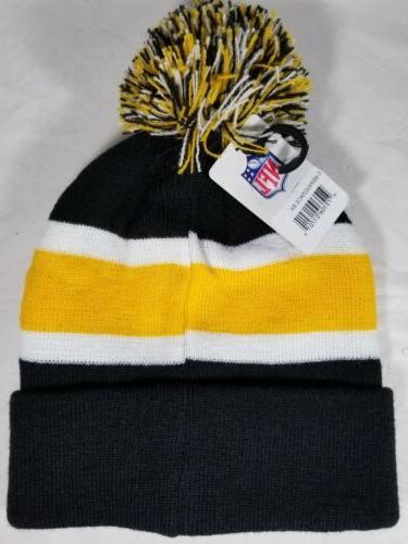 Pittsburgh Steelers NFL - Black, Yellow - Unisex Beenie Hat
