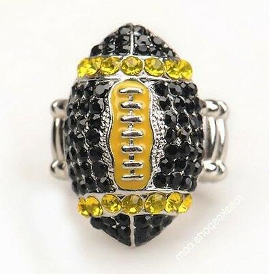 Pittsburgh Steelers Black Womens Ring