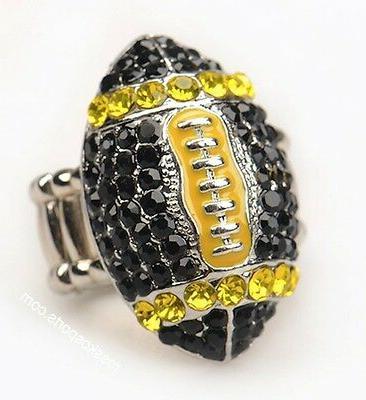 pittsburgh steelers nfl fan black yellow rhinestone