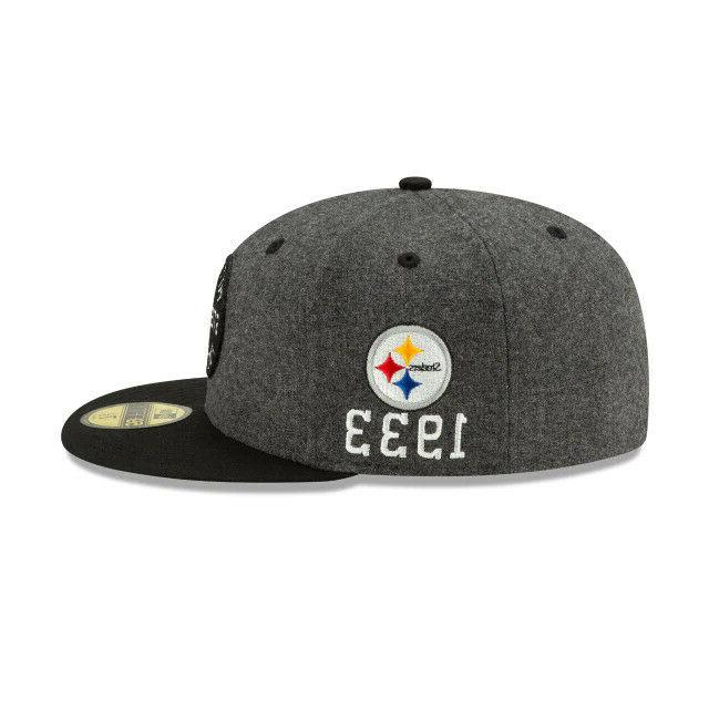 Pittsburgh NFL On-Field New Era Fitted Hat-Gray