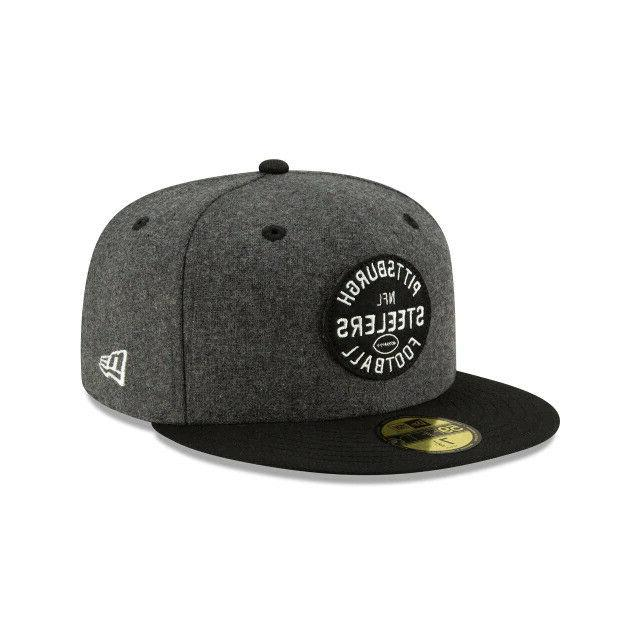 Pittsburgh New Era Established Fitted Hat-Gray