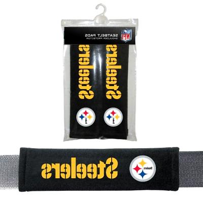 pittsburgh steelers pad for cars seat belt