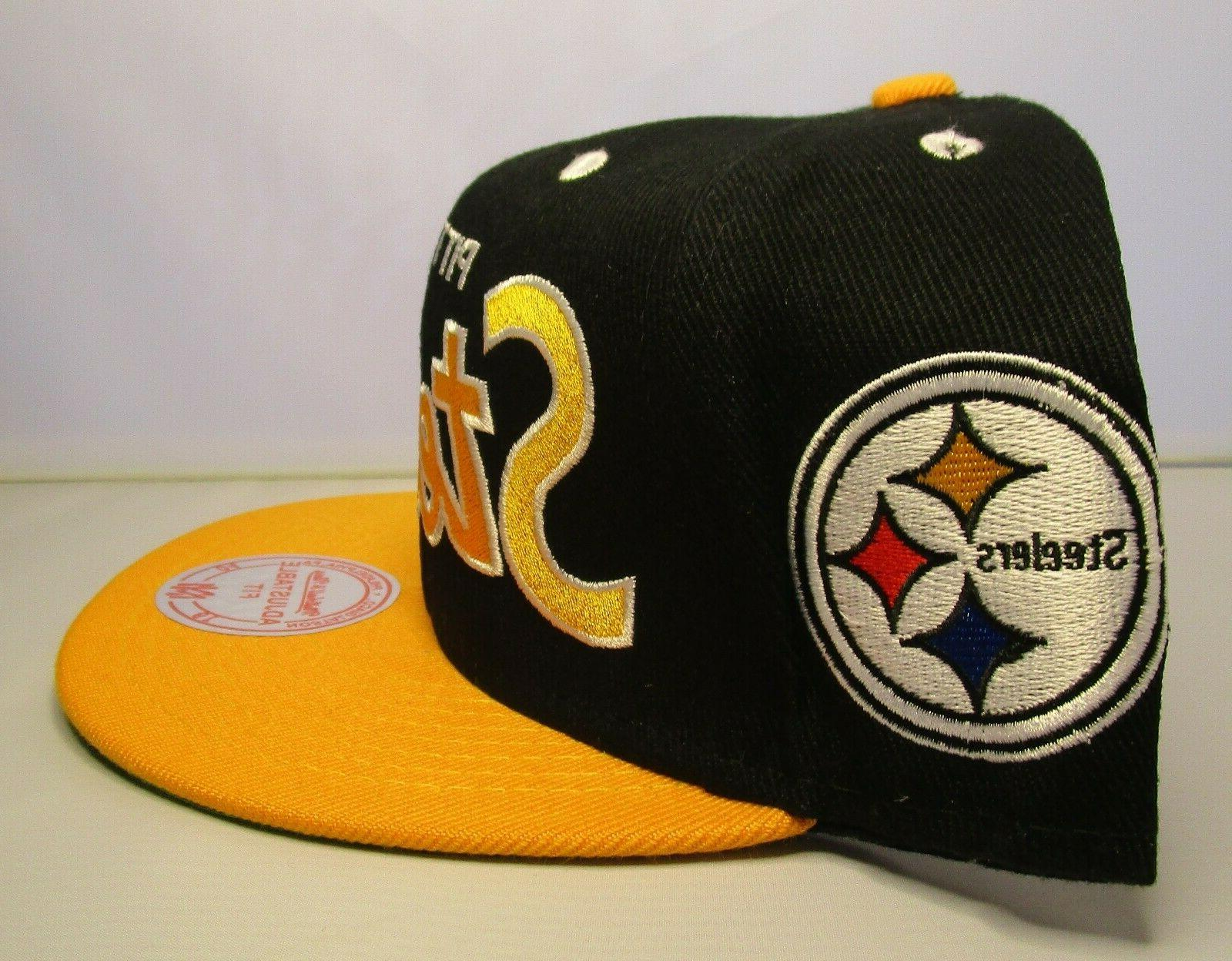 Pittsburgh Hat New with Mitchell & Black Gold