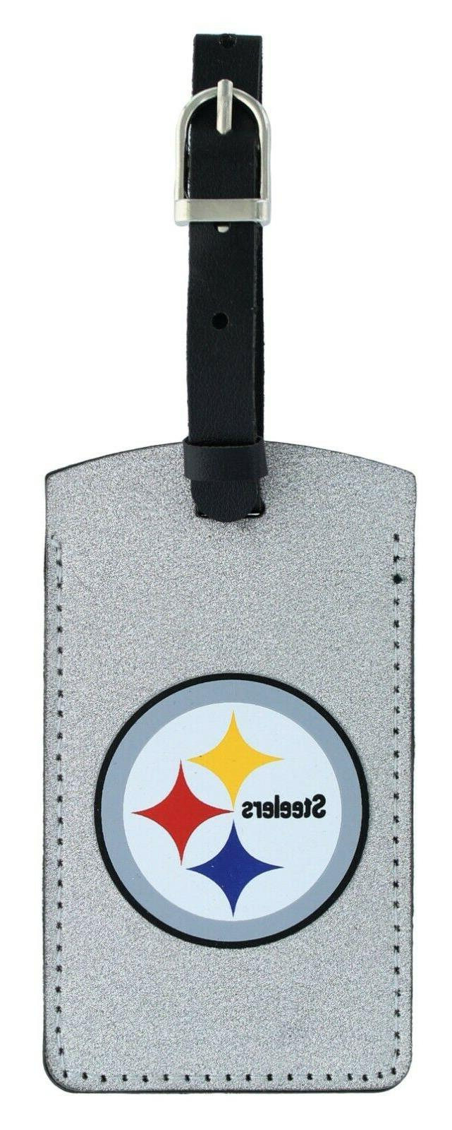 PITTSBURGH STEELERS SPARKLE BAG TAG FOOTBALL LUGGAGE ID INFO
