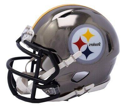 pittsburgh steelers speed mini helmet nfl chrome