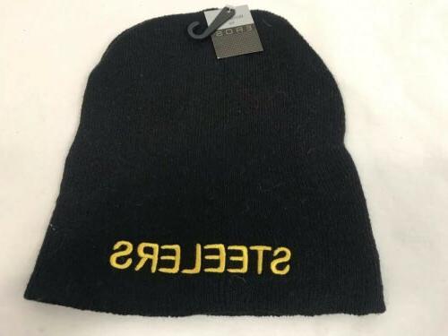 pittsburgh steelers winter hat black knit hat