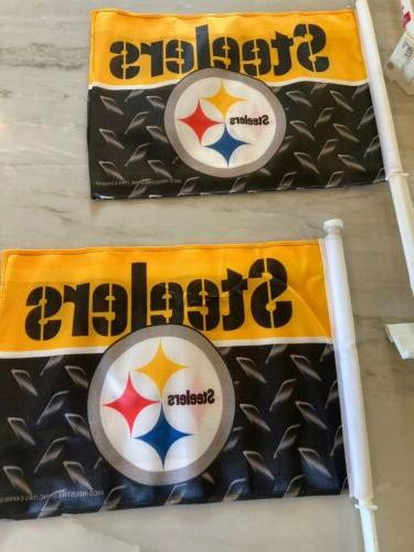 Set of Brand New Steelers Car Flags - Lot