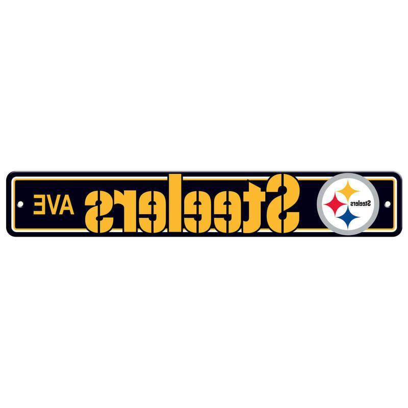 street signs 4 x 24 football logo