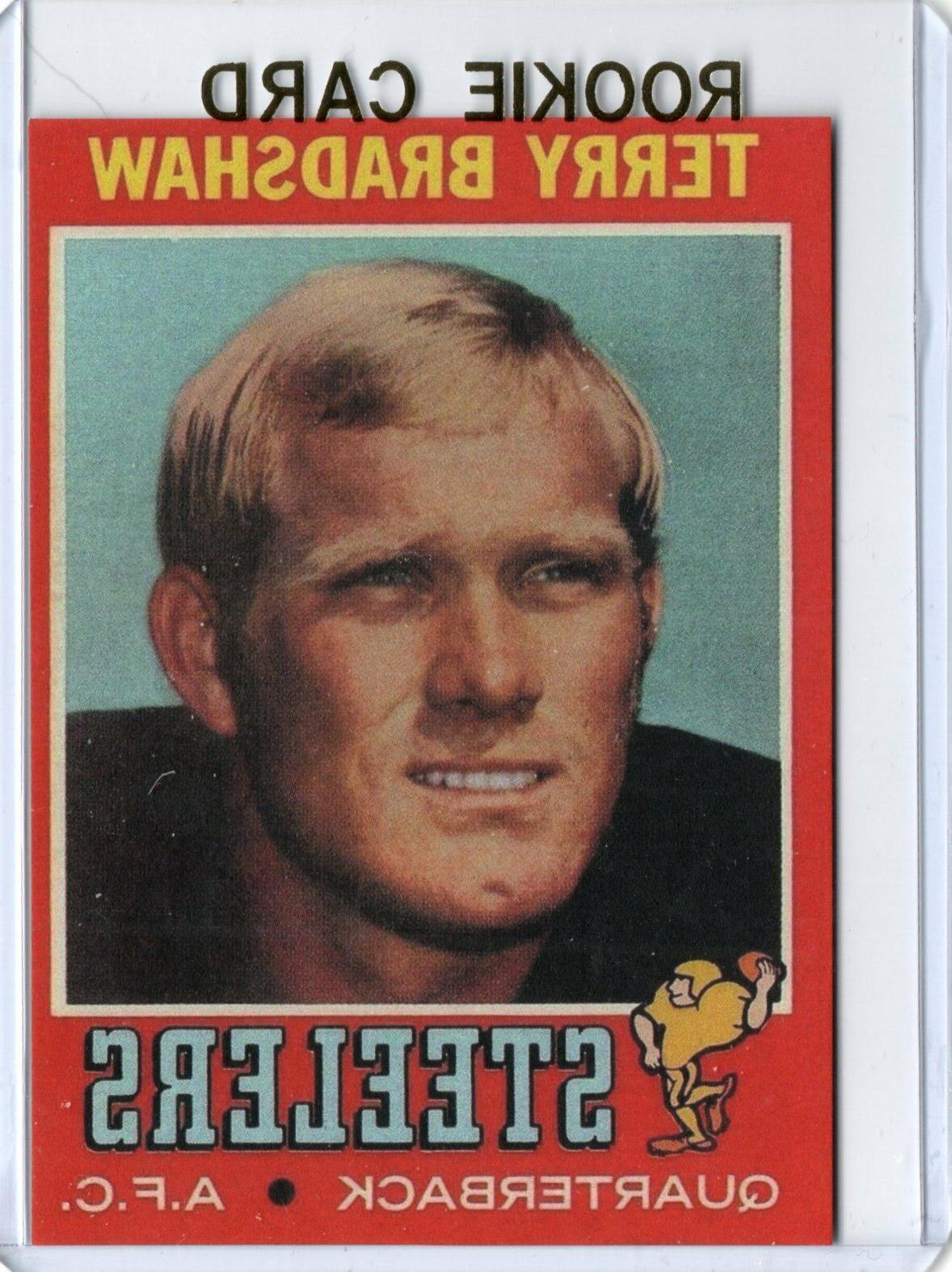 terry bradshaw 1971 t football rookie card