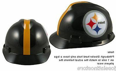 "MSA V-Gard Cap Type Pittsburgh Steelers NFL Hard Hat ""RATCHE"