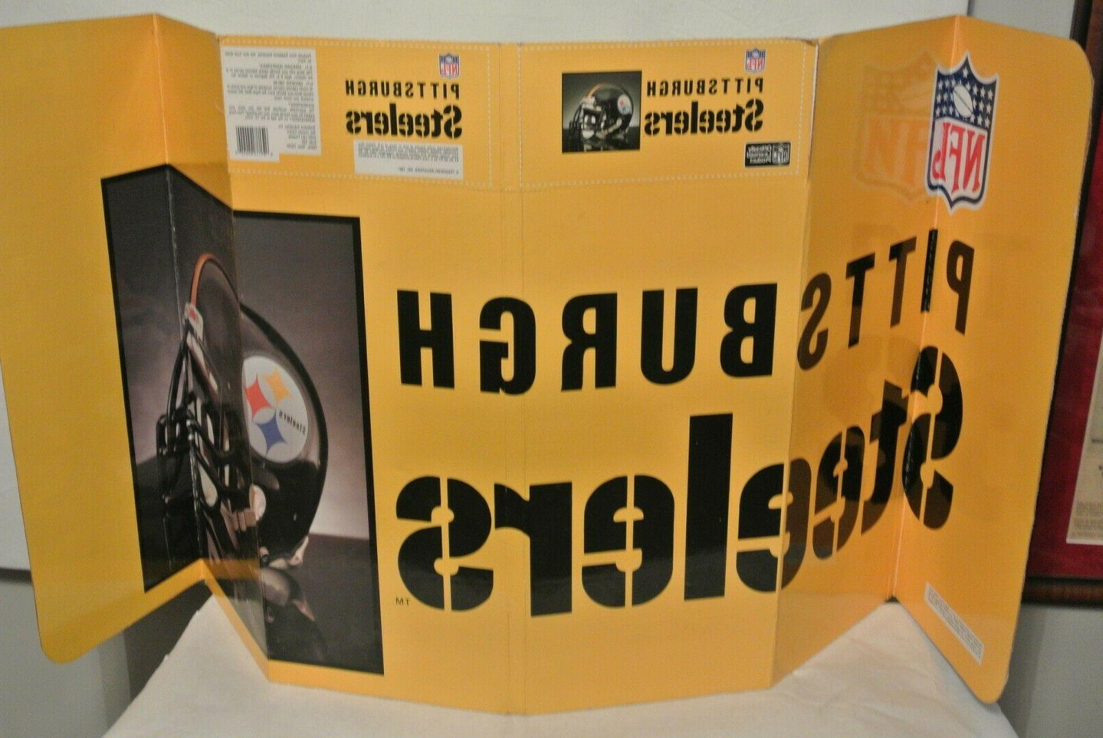 vintage pittsburgh steelers car front windshield accordion