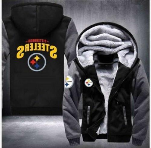 winter thicken hoodie pittsburgh steelers fan warm