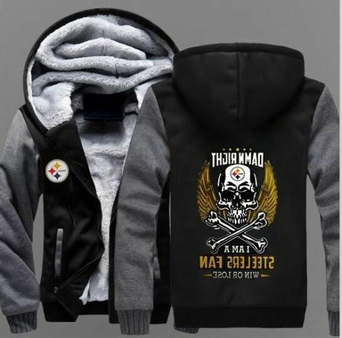 winter thicken hoodies pittsburgh steelers team sweatshirt