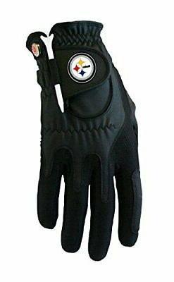 Zero Friction NFL Pittsburgh Steelers Black Golf Glove, Left