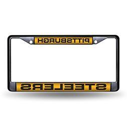 Pittsburgh Steelers Laser Black License Plate Frame