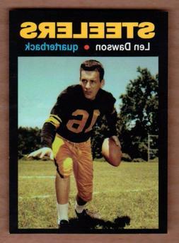 Len Dawson '57 Pittsburgh Steelers rookie season MC Glory Da