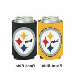 Licensed Football 2 Sided 12 oz Pittsburgh Steelers Can Cool