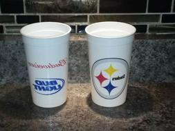Lot Of 25 Pittsburgh Steelers Bud Light 20oz Plastic NFL Cup
