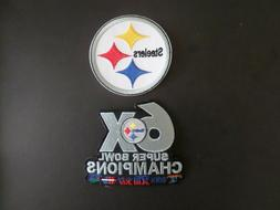 LOT OF 2-PITTSBURGH STEELERS SUPER BOWL EMBROIDERED IRON ON