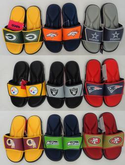 Men's NFL Deluxe Foam Slide Shower Sandals Shoes