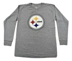 NFL Team Apparel Mens Pittsburgh Steelers Football Shirt New