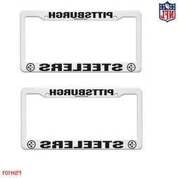 New 2pc Set NFL Pittsburgh Steelers Car Truck White Plastic