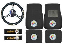 new 7pc set nfl pittsburgh steelers car