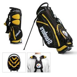 New Licensed NFL Pittsburgh Steelers Team Golf Stand Bag