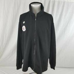 New NFL Men's XL Pittsburgh Steelers Black Fleece Embroidere