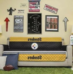 NEW NFL Licensed Pittsburgh Steelers Quilted Sofa Protector
