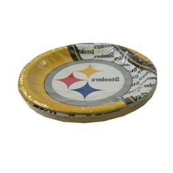 "New NFL Pittsburgh Steelers 9.75"" Disposable Paper Plates Pa"